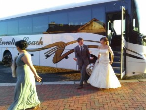 wedding shuttle bus